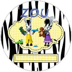 """Zou"" cone treats, invitations ""zou."" birthday kit baskets, etc ... - Invitations Digital Simple"