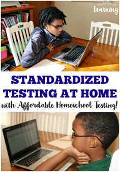 Need to give your homeschooled kids a standardized test? Learn how to do easy homeschool standardized testing at home! #ad