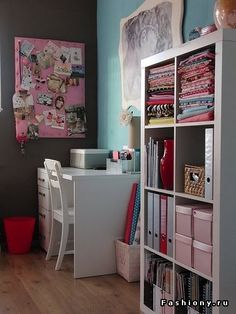 organize room, lovely colors ♥