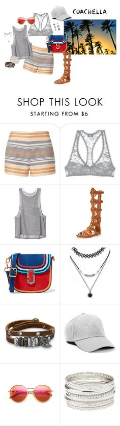 """Coachella 2016 day 3"" by quan-kim ❤ liked on Polyvore featuring Solid & Striped, Cosabella, KG Kurt Geiger, Marc Jacobs, Forever 21, BillyTheTree, Topman, Wildfox, Charlotte Russe and Topshop"
