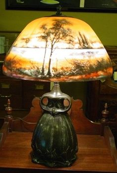 1000 Images About Reverse Painted Lamps On Pinterest