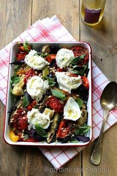 Auberginen, Paprika, Zucchini, Burrata, Basilikum - To cook - Veggie Recipes, Salad Recipes, Vegetarian Recipes, Healthy Recipes, Detox Recipes, Ketogenic Recipes, Healthy Cooking, Cooking Recipes, Healthy Food