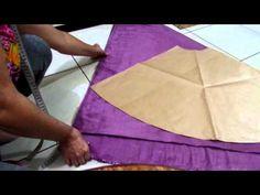 Como dobrar o tecido pra cortar saia godê em 1/4. Aula 72 - YouTube Bikinis Crochet, Red Band, Draped Dress, Dress Sewing Patterns, Diy Clothing, Paper Shopping Bag, 1, Alana Santos, Youtube