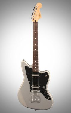 Fender Standard Jazzmaster HH Electric Guitar, with Rosewood Fingerboard, Ghost Silver How To Get Thick, Fender Guitars, Drums, Electric, Silver, Drum Sets, Drum