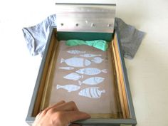 Kim Welling: Free friday - screen printing at home tutorial