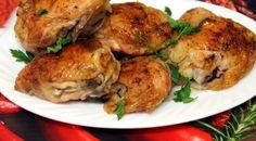 Coapse parfumate de pui coapte 0 Chicken Thighs, Baked Chicken, Turkey, Snacks, Meat, Recipes, Food, Armenia, Chicken