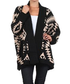 Look at this BellaBerry Beige Tribal Open Cardigan on #zulily today!