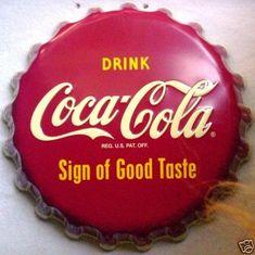 Heavy Aluminum Coca Cola Bottle Cap Sign Ltd Edition Advertising Sign Retired Coca Cola Cooler, Coca Cola Life, Coca Cola Bear, Coca Cola Pictures, Vintage Coke, Vintage Signs, Always Coca Cola, Non Alcoholic Drinks, Pepsi