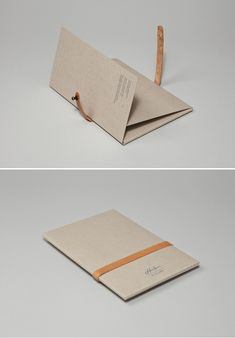 A set of postcards presented in a greyboard presentation folder with foil and embossing detail and secured with hand-made leather straps. Design Presentation, Presentation Folder, Menu Design, Print Design, Booklet Design, Design Layouts, Book Portfolio, Portfolio Design, Print Packaging