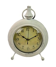 Antique White Table Clock