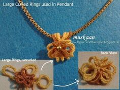 Free tatting pattern for Jewelry Medallion , and the final options for curled rings. My observations.
