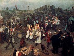 """""""Sommerfest"""" 1909 Hans Baluschek (1876 - 1935)"""