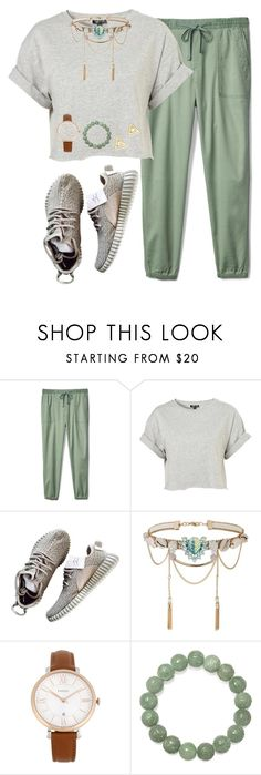 """Studying again :(("" by livnewell ❤ liked on Polyvore featuring Gap, Topshop, Miss Selfridge, FOSSIL and Mateo"