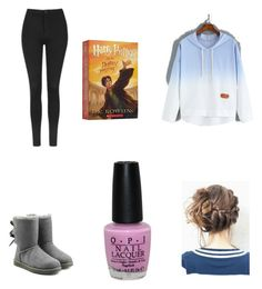 """""""Lazy day"""" by hufflepuff394 on Polyvore featuring Topshop, UGG Australia and OPI"""