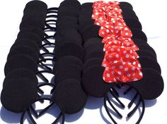 12 Mickey Mouse Headbands Mickey Mouse Ears by PartyOnABudgett