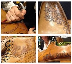 Tattooed mens shoes by Oliver Sweeney