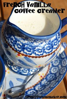 French Vanilla Coffee Creamer - 14oz sweetened condensed milk, 14oz milk,   2 teaspoons vanilla extract   OR Vanilla Coffee Syrup (will get stronger flavor).      Probably could use other flavors too!