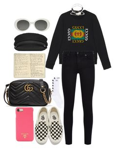 """""""Untitled #1347"""" by veronice-lopez on Polyvore featuring Gucci, 7 For All Mankind, Vans, Yves Saint Laurent, Prada, Moleskine, Kappa, Suzanne Kalan, Alexander Wang and myoutfitdatewithlouistomlinsonandharrystyles"""