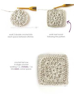 How to crochet a Fabric & Granny Squares Dress - Pattern and Tutorial Baby Bloomers Pattern, Crochet Baby Dress Pattern, Baby Dress Patterns, Baby Knitting Patterns, Crochet Patterns, Crochet Blocks, Afghan Patterns, Square Patterns, Coat Patterns