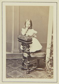 Princess Charlotte of Prussia, 1864 [in Portraits of Royal Children Vol.8 1864-1865]