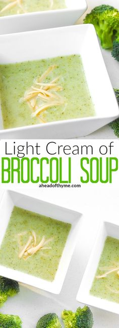 Light Cream of Broccoli Soup: It's easy to make creamy, thick and flavourful…