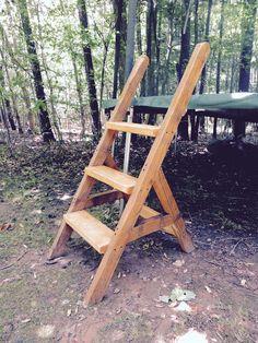 The Project Lady: DIY Wood Trampoline Ladder - Easy & Sturdy!