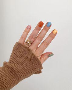 Image about nails in beauty by Loanny on We Heart It Cute Acrylic Nails, Cute Nails, Pretty Nails, Shellac Nails, Nail Manicure, Hair And Nails, My Nails, Nail Polish Combinations, Funky Nails