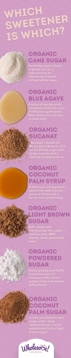 So many options! But they're all #organic, non-GMO and Fair Trade. There's a recipe for each on the Live Sweetly blog.