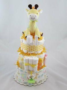 Geri Giraffe Diaper Cake, 3 Tier by The Blue River Baby Shoppe, http://www.amazon.com/dp/B007A7EJ1C/ref=cm_sw_r_pi_dp_Kg9Oqb1VWX620