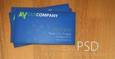 blue business | template Photoshop PSD Kartu Nama Unik Menarik Cantik
