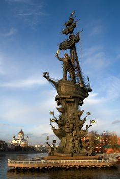 Peter the Great Statue, Moscow, Russia. 96m. #agoda