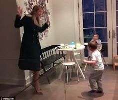 Ivanka Trump took to Instagram on Thursday morning to share a throwback video of herself dancing with her sons Joseph, three, and Theodore, one