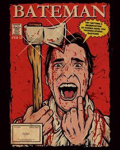 Horror Books, Horror Comics, Horror Art, American Psycho, Slasher Movies, Christian Bale, Classic Comics, Jared Leto, Comic Books