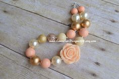 READY TO SHIP Gold Cream and Peach Bubblegum by LauraLeeDesigns108
