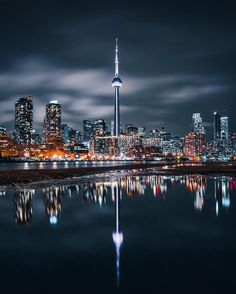 Reflections of Toronto at Night - Architecture and Urban Living - Modern and Historical Buildings - City Planning - Travel Photography Destinations - Amazing Beautiful Places Toronto Photography, Urban Photography, Amazing Photography, Landscape Photography, Travel Photography, Toronto Skyline, Toronto City, City Wallpaper, Iphone Wallpaper Toronto