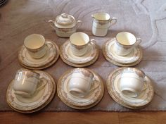 20 Piece Tea Set by Noritake of Japan Barrymore Pattern 9737. Rare Set.