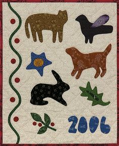 """quilts made from Cheri Saffioti patterns   15"""" x 19"""""""