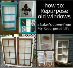 My Repurposed Life-How to repurpose old windows - 13 DIY Project Tutorials Furniture Projects, Furniture Makeover, Home Projects, Diy Furniture, Nursery Furniture, Furniture Websites, Inexpensive Furniture, Rustic Furniture, Vintage Furniture