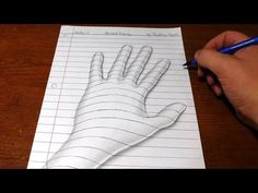 How to Draw a 3D Hand - Trick Art Optical Illusion - YouTube