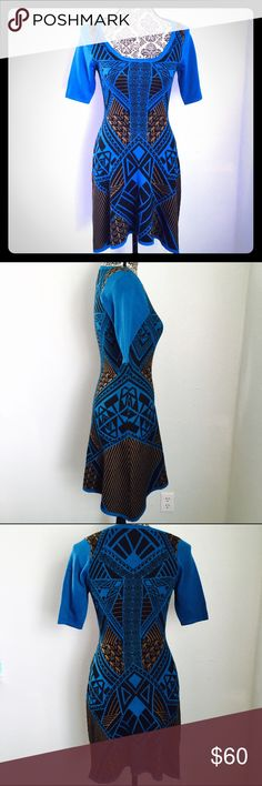 Flying Tomato Aztec Blue Tribal Print Career Dress Flying Tomato Aztec Blue Tribal Print Career Dress Tunic! Size small! Flying Tomato Dresses