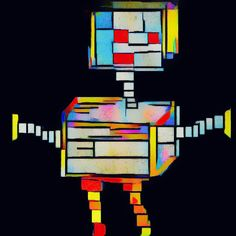 Square robot. By A.M.