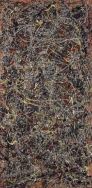 Jackson Pollock's No. 5 1948 is one of his instantly recognizable paintings created by splattering paint randomly on to the canvas, in a technique labeled Drip Painting. Pollock died at the age of 44 in a car accident, but achieved notoriety in his life time. Ed Harris played him in a movie in 2000 that won an Oscar. Check it out!