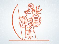 Athena designed by Joseph Blalock. Connect with them on Dribbble; the global community for designers and creative professionals. Fantasy Logo, Greek Pantheon, Greek Mythology Art, Logo Line, Geometric Logo, New Sticker, Greek Art, Art For Art Sake, Graphic Design Illustration