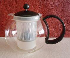 BODUM Assam Tea Pot Press Glass Pot 4 Cups Infusion C. Jorgensen Switzerland #BODUM