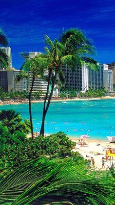 Waikiki, Beach, Oahu, Hawaii