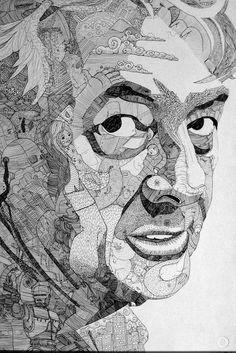 Jason Sho Green. Ballpoint pen portrait