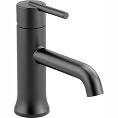 Add both style and functionality to your bath space with this Delta Trinsic Single Hole Single-Handle Bathroom Faucet in Matte Black.