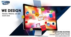 WEB DESIGNING SERVICES WE DESIGN  Banners, Websites, Ads and much more ... Superior Web Solutions  290 Caldari Road, Suite 200, Concord, Toronto, Ontario, L4K 4J4, Canada Call : 905.532.9642 Visit us at www.superiorwebsys.com