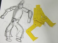 Great idea! Children create card mannequins to learn figure drawing and…