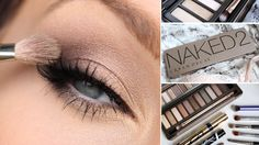 URBAN DECAY NAKED 2 EYESHADOW PALETTE TUTORIAL-A tutorial with the